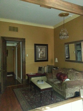 """1890 Williams House Inn : """"Sitting Area"""" and Door to Williams Suite"""