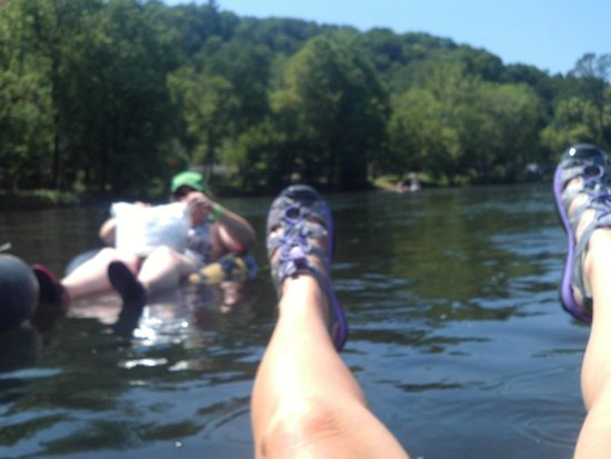 New River Junction: Floating down the river