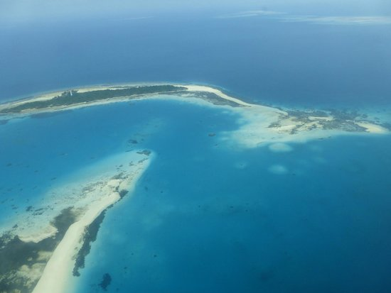 Chumbe Island Coral Park: Chumbe Island from the air
