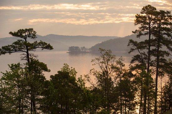Idabel, OK: Morning sun on Broken Bow Lake