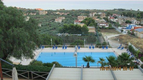 Residence Isabella Sport : vista dal balcone,la sera è molto più bella