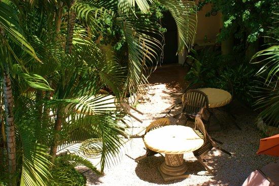 Hotel Aventura Mexicana: petite terrasse