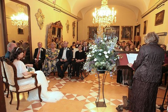 RV Hotel Palau Lo Mirador : Salón donde se celebró la boda debido a la lluvia