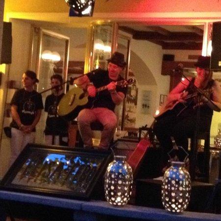 Hotel Schiff-Battello Ascona: Outside the hotel during Fabiano's concert