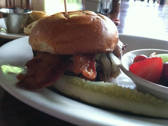 Classic Rbl Burger With Bleu Cheese Caramelized Onions And