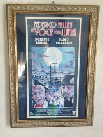 Hotel Fellini: Poster inside of the room