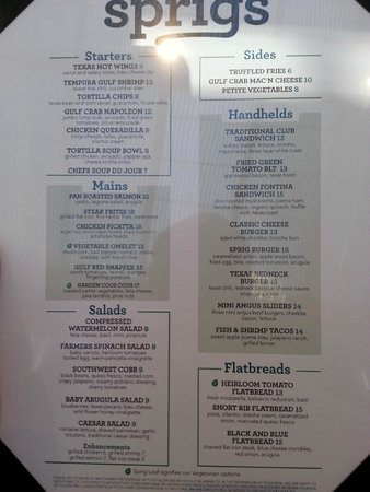 DoubleTree by Hilton Houston - Greenway Plaza: Restaurant menu