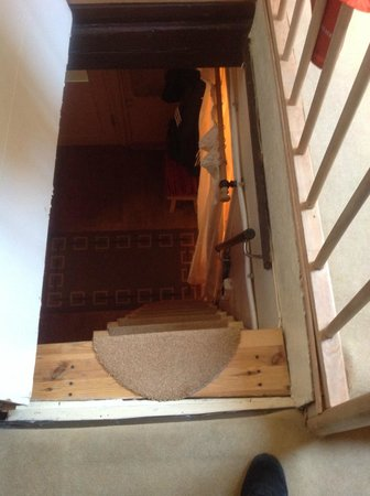 Castle View Guesthouse : Ladder to attic rooms