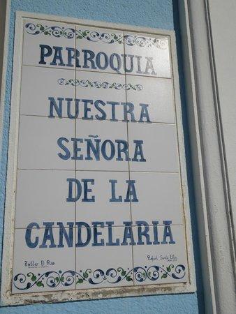 Iglesia Candelaria: Placa da Igreja