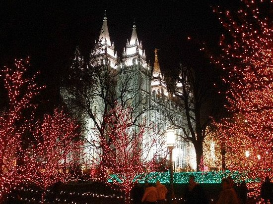 The Salt Lake Temple during the Christmas season