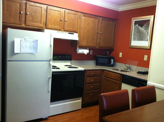 Residence Inn State College: Kitchen of 2 bed/2 bath suite