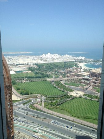 Jumeirah at Etihad Towers: View while waiting for elevator.