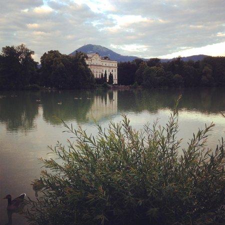 Hotel Schloss Leopoldskron: The Schloss Leopoldskron, as seen from across the lake.