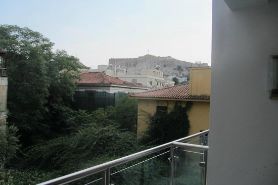 Electra Palace Athens: View from our room on the second floor