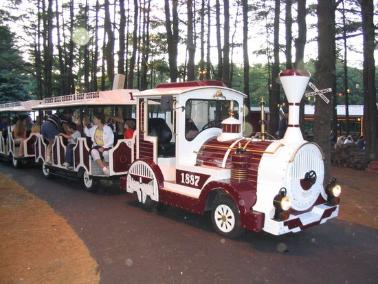 "Sunny Hill Resort and Golf Course : Antique Road Train - ""Just for Fun Rides"""