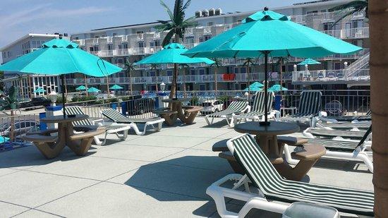 Compass Family Resort Motel: Sundeck