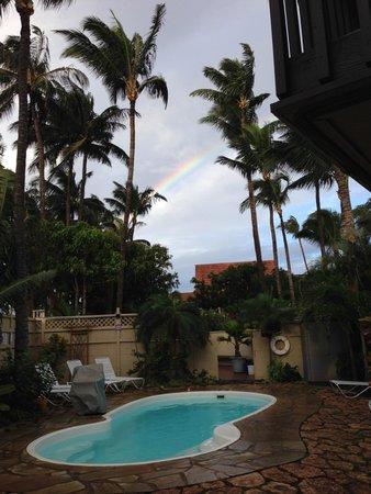 Maui Sunseeker LGBT Resort : Pool/spa area from suites
