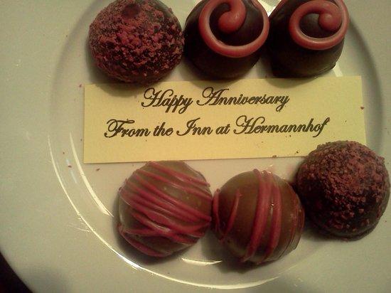 The Inn at Hermannhof: Anniversary Candies