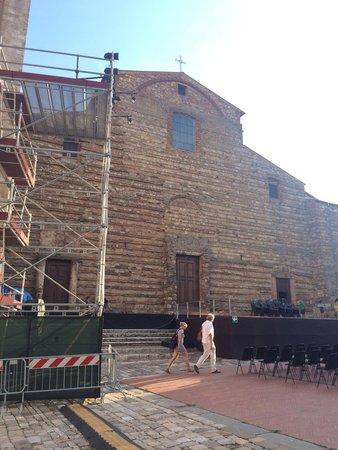 Duomo: Preparando el concierto al aire libre