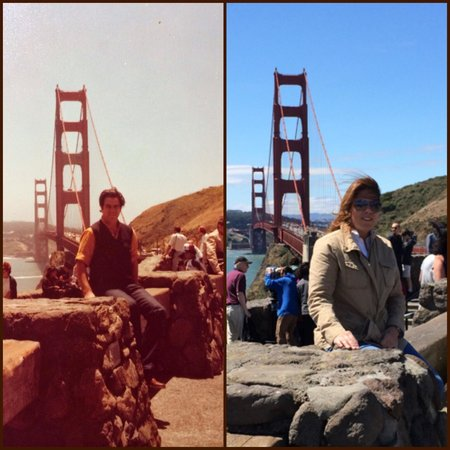 Then And Now Picture Of Golden Gate Bridge San