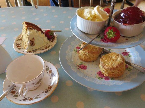 Green Pig Farm Tea Rooms: cream tea and cake!