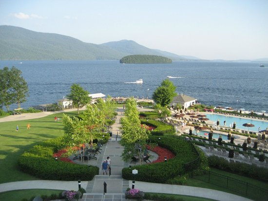 The Sagamore Resort: View from the Veranda off the lobby.