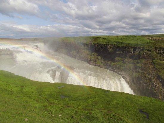 Gullfoss: le cascate con l'arcobaleno