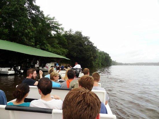 Mawamba Lodge: arrivée en bateau