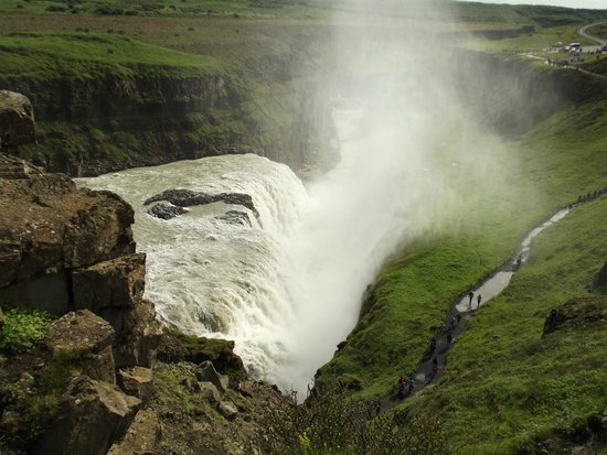 Gullfoss: il canyon a valle