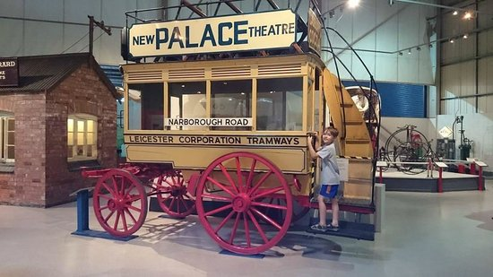 Snibston Discovery Museum and Country Park : Sebastian and the horse drawn tram