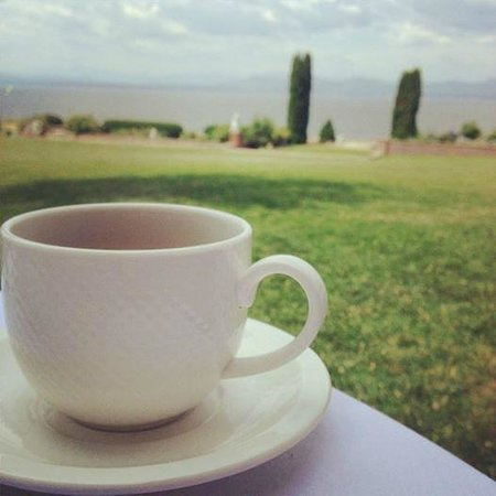 Inn at Shelburne Farms : A relaxing cup of tea by the lake