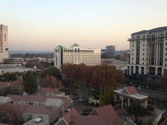 Hilton Sandton: view from room/suite