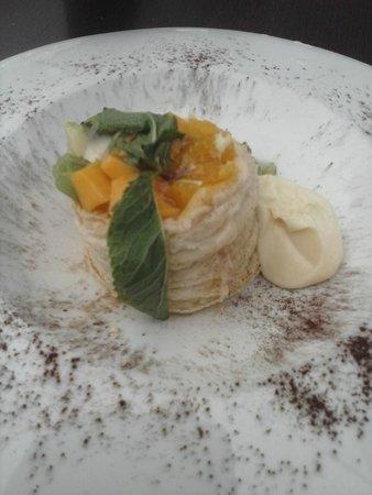 Restaurante la Mirta: volcán de crema