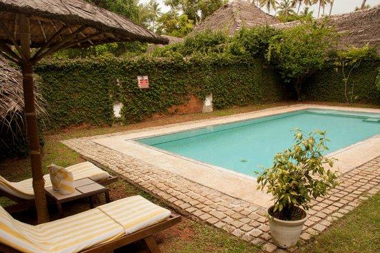Marari Beach Resort: Private garden with pool