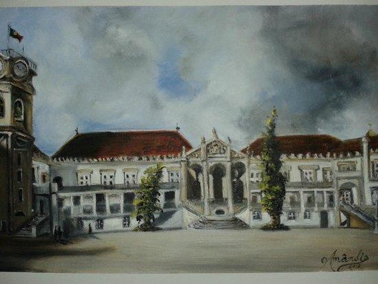 University of Coimbra : Esta uma pintura a óleo da Universidade de Coimbra (vista por mim)