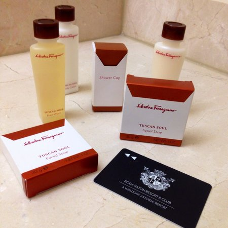 Boca Raton Resort, A Waldorf Astoria Resort: Ferragamo bath products