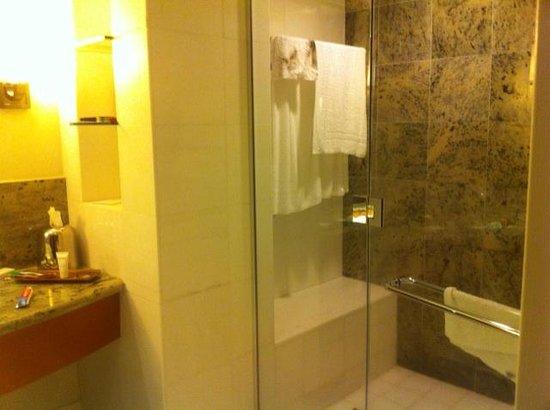 Borgata Hotel Casino & Spa: Walk-in Shower (after use)