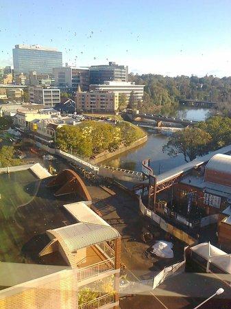 Novotel Sydney Parramatta: Level 9 view - looking west