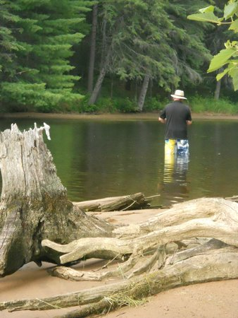 Nature's Harmony Ecolodge: Fishing in a straight of the Ottawa River