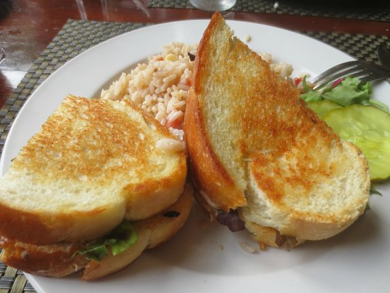 Captain Scott's Seafood Restaurant: Salmon sandwich