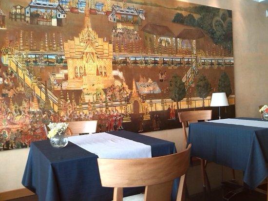 Thai Si Royal Thai Spa & Hotel: decorazione ristorante