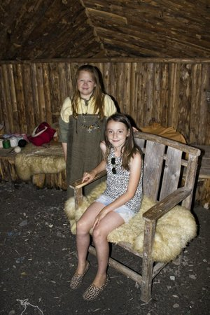 Norstead Viking Village: Granddaughter with a young lady who portrayed a Viking Trader. Very knowledgable and sweet.