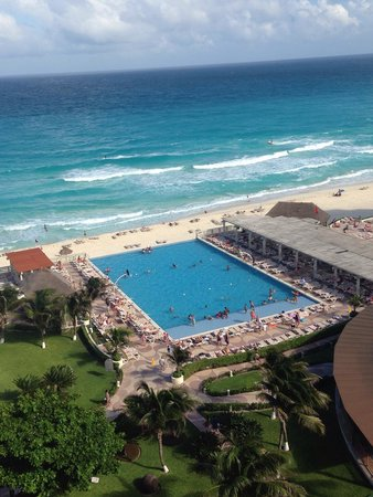 Crown Paradise Club Cancun: View from top floor