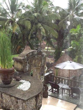 Wapa di Ume Resort and Spa: View from my villa in the rain
