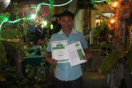 "JJ's Bar & Food : Proud Jit ""J"" owner with trip advisor certificates !"