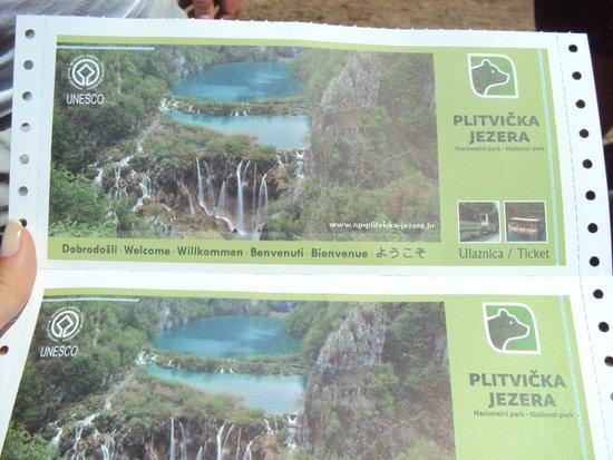 Plitvice Lakes National Park : ingressos