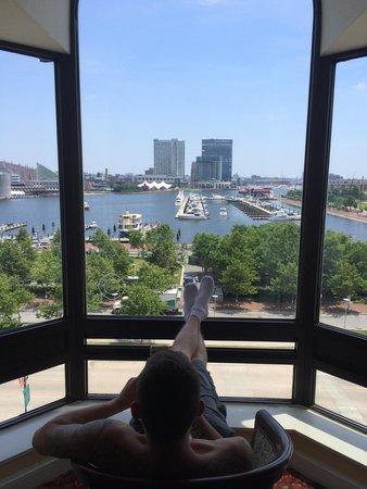 Royal Sonesta Harbor Court Baltimore : Vue de la chambre sur le port!!!!