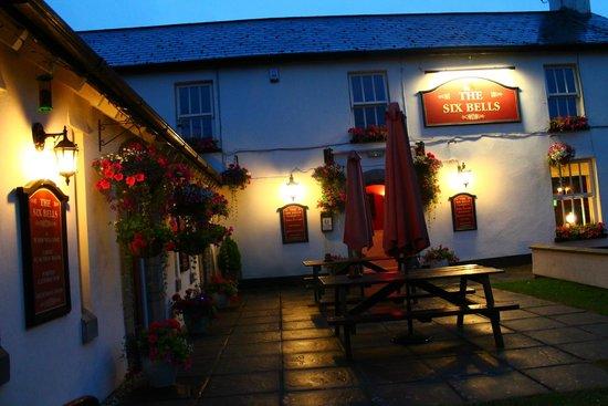 Beer Garden In The Evening Picture Of The Six Bells