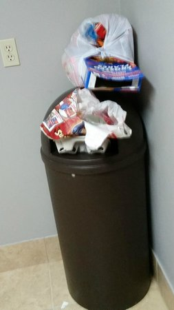Country Inn & Suites By Carlson, Cedar Rapids North: Ice Machine Area - Overflowing trash