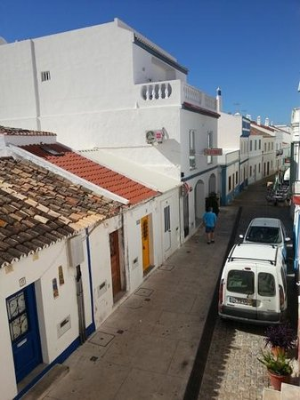 Apartamentos Rossio Mar: The street view from our 1st floor apartment